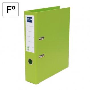 Archivador Plus Office E3R Folio lomo 75mm verde claro