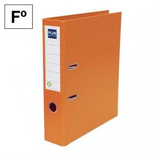Archivador Plus Office E3R Folio lomo 75mm Naranja