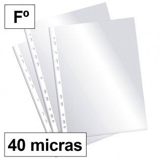 Funda multitaladro Fº cristal 40micras c/200 Plus Office