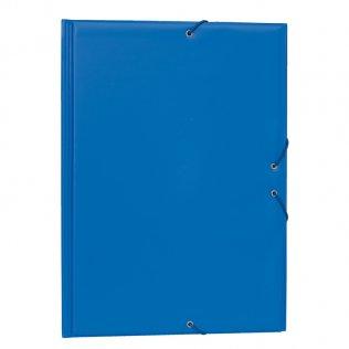 Carpeta PVC Folio gomas y solapas azul claro