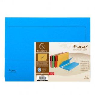 Subcarpeta A4 azul 290g con bolsa cartulina reciclada Exacompta