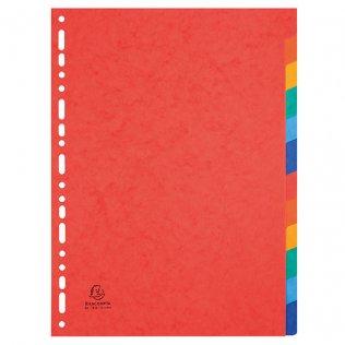 Separadores cartulina lustrada 6 colores A4 Exacompta