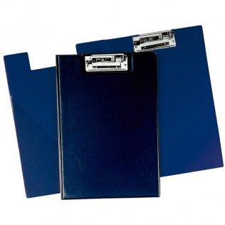 Carpeta folio PVC azul marino con miniclip