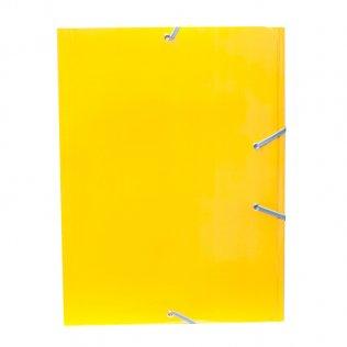 Carpeta A4+ amarillo goma y solpas cartón brillo Campus