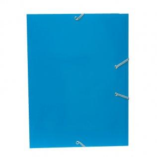 Carpeta A4+ azul claro goma y solpas cartón brillo Campus