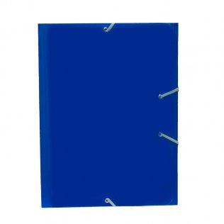 Carpeta A4+ azul marino goma y solpas cartón brillo Campus