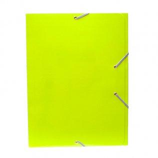Carpeta A4+ verde claro goma y solpas cartón brillo Campus