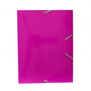 Carpeta A4+ rosa oscuro goma y solpas cartón brillo Campus