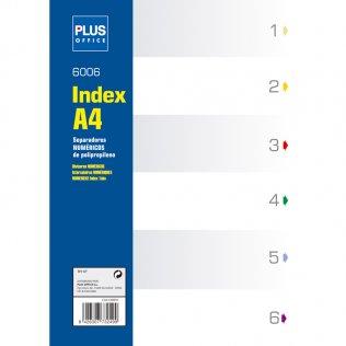 Indice numérico A4 6 separadores