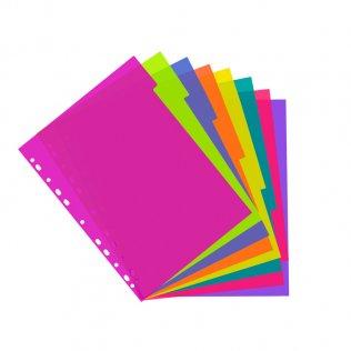 Separadores PP 8 colores traslúcidos A4+ Plus Office