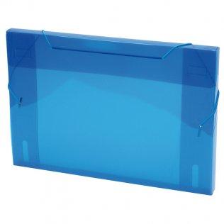 Carpeta A4+ azul con gomas y lomo de 3cm Plus Office