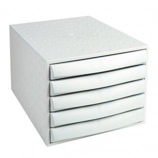 Módulo archivador gris claro 5 cajones Exacompta