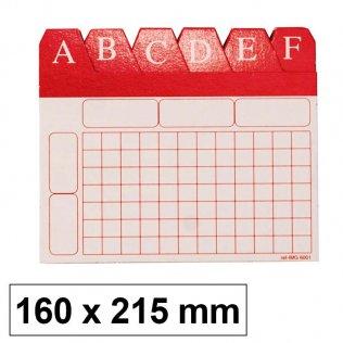 Índice alfabético para ficheros 160x215mm