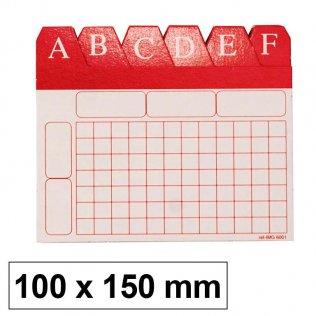 Índice alfabético para ficheros 100x150mm
