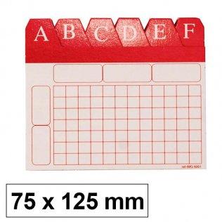 Índice alfabético para ficheros 75x125mm