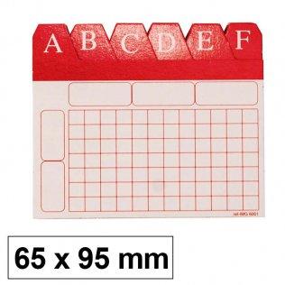 Índice alfabético para ficheros 65x95mm