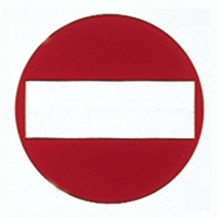 Etiquetas de señalización Apli Prohibido pasar