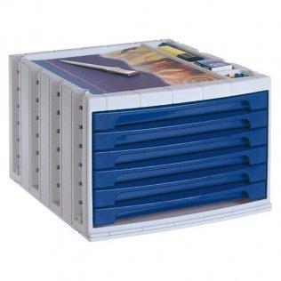 Módulo 6 cajones Archivo 2000 Azul