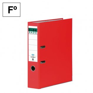 Archivador Fº Rojo Lomo 80mm Elba Rado-Chic