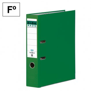 Archivador Fº Verde Lomo 80mm Elba Rado-Chic