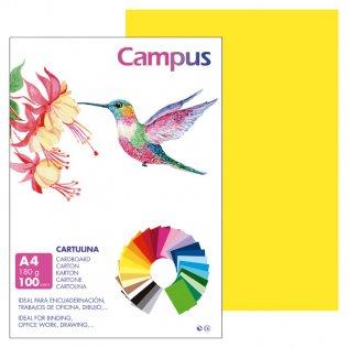 Cartulina Campus A4 Amarillo Canario 180 g
