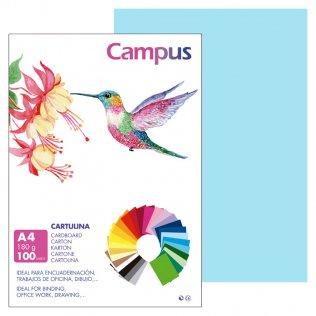 Cartulina Campus A4 Azul Celeste 180 g