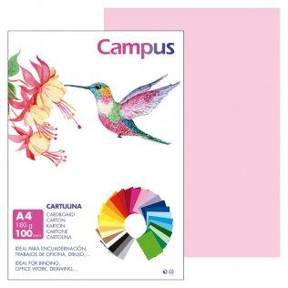 Cartulina Campus A4 Rosa 180 g
