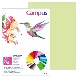 Cartulina Campus A4 Verde Manzana 180 g