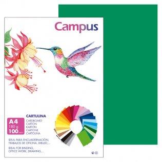 Cartulina Campus A4 Verde Pino 180 g
