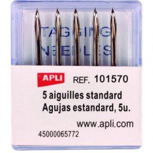 Agujas etiquetadora textil Apli 5 unidades