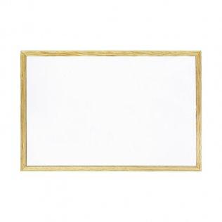 Pizarra blanca 900x600 mm con marco de madera