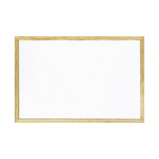 Pizarra blanca 400x300 mm con marco de madera
