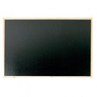 Pizarra negra 1200x900 mm con marco de madera