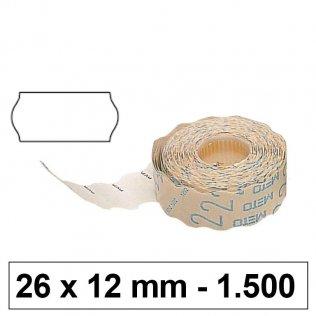 Etiquetas Meto 26x12mm permanente blanco 1500 uds