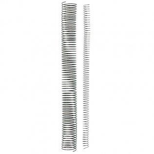 Espiral metálica A4 18mm 160 hojas 100 ud