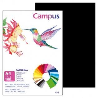 Cartulina Campus A4 Negro 180 g