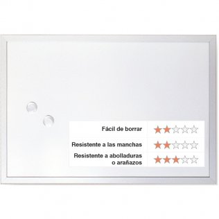 Pizarra blanca magnética 900x600 mm Lacada