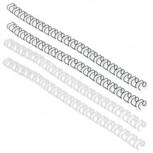Canutillo Wire-O 6mm negro 55 hojas 100 ud
