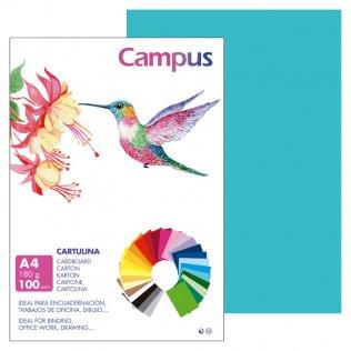 Cartulina Campus A4 Azul Turquesa 180 g