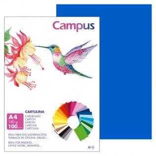 Cartulina Campus A4 Azul Marino 180 g