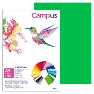 Cartulina Campus A4 Verde Billar 180 g
