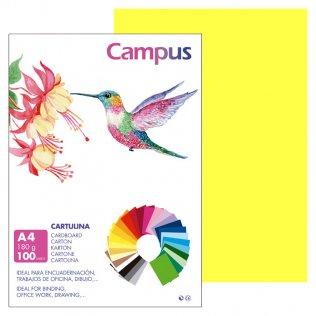 Cartulina Campus A4 Amarillo Limón 180 g