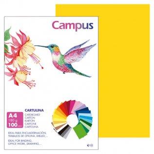 Cartulina Campus A4 Amarillo Gualda 180 g