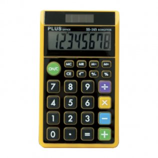 Calculadora Plus SS-165 Negro/Naranja Plus Office