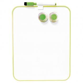 Pizarra blanca magnética 216x280 verde con marcador