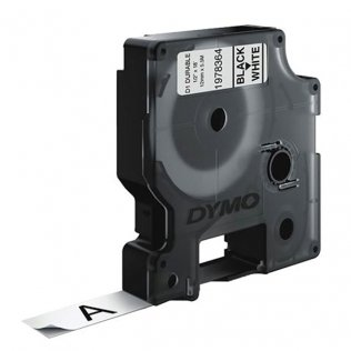 Cinta Dymo D1 Durable 12mm x 5,5m Negro/Blanco