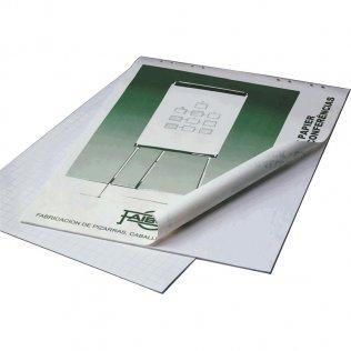 Blocs de papel Faibo para pizarras de caballete Rayado liso 50 hojas
