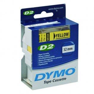 Cintas Dymo electrónica D2 32mmx10m Amarillo