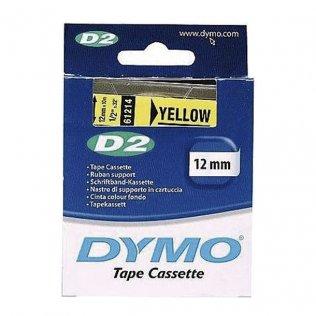Cintas Dymo electrónica D2 12mmx10m Amarillo