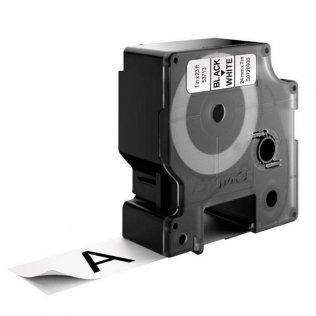 Cinta Dymo D1 24mm x 7m Negro/Blanco